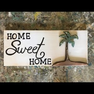 Solid wood hand made home sweet home sign
